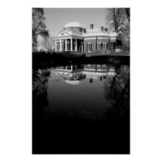 Monticello on Water Poster