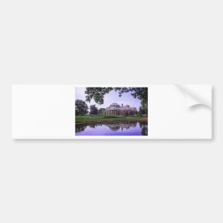 Monticello Reflection Bumper Sticker