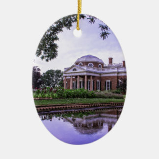 Monticello Reflection Ceramic Ornament