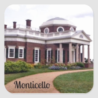 Monticello Square Sticker