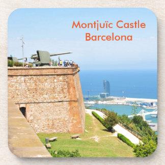 Montjuic castle, Barcelona Beverage Coaster