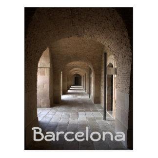 Montjuic Castle, Barcelona Postcard