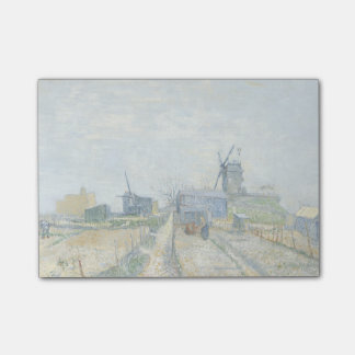 Montmartre Mills and Vegetable Gardens by Van Gogh Post-it Notes