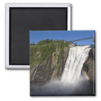 Montmorency Falls near Quebec City. Square Magnet