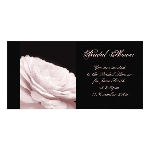 Montone Rose - Bridal Shower/Wedding Invitation Custom Photo Card