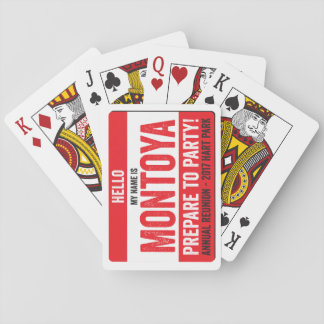 Montoya Reunion 2017 - Prepare to Party! Playing Cards