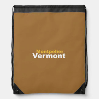 Montpelier, Vermont Drawstring Backpack