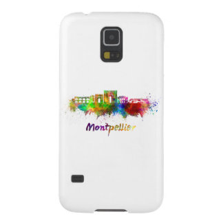 Montpellier skyline in watercolor galaxy s5 cover