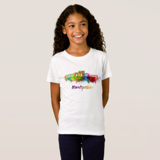 Montpellier skyline in watercolor T-Shirt