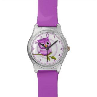 Montre-bracelet de hibou de bébé d'amusement dans montres