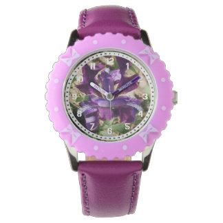 Montre pourpre d'iris montres