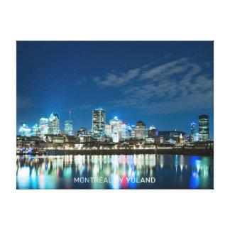 Montréal by night canvas print