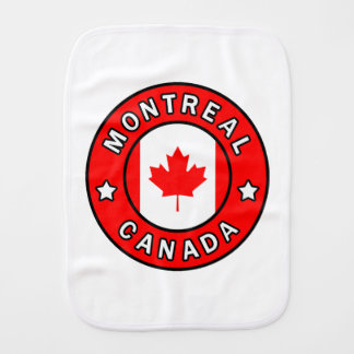 Montreal Canada Burp Cloth