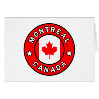Montreal Canada Card