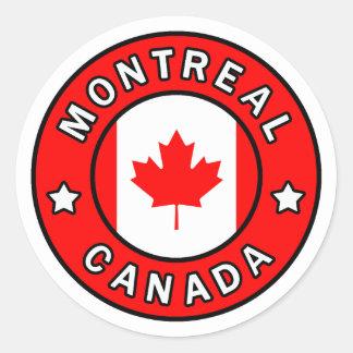Montreal Canada Classic Round Sticker