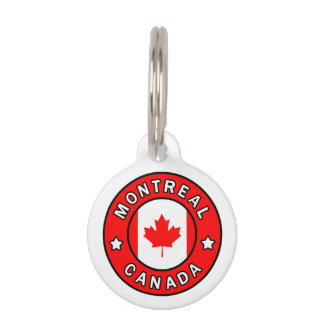 Montreal Canada Pet ID Tag