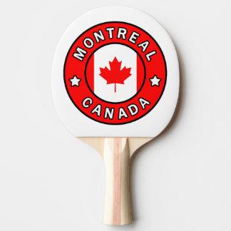 Montreal Canada Ping Pong Paddle