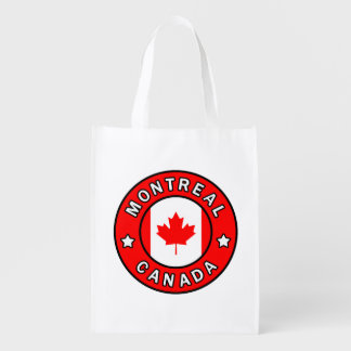 Montreal Canada Reusable Grocery Bag