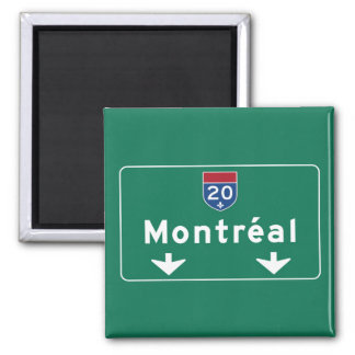 Montreal, Canada Road Sign Magnet