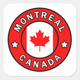 Montreal Canada Square Sticker