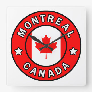 Montreal Canada Square Wall Clock