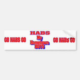 MONTREAL CANADIANS NHL SUPPORTERS BUMPER STICKER
