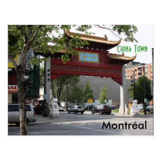 Montreal China Town Postcard