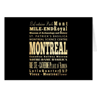 Montreal City of Canada Typography Art Greeting Card
