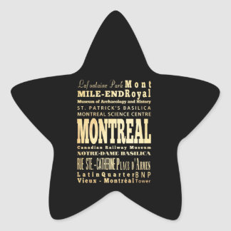Montreal City of Canada Typography Art Stickers