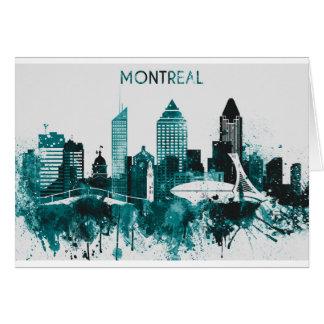Montreal City Skyline Card