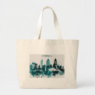 Montreal City Skyline Large Tote Bag