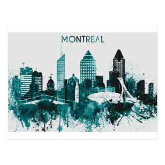 Montreal City Skyline Postcard