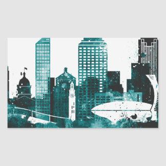 Montreal City Skyline Sticker