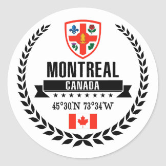 Montreal Classic Round Sticker