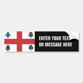 MONTREAL Flag Bumper Sticker