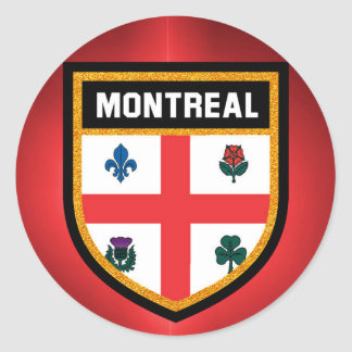 Montreal Flag Classic Round Sticker