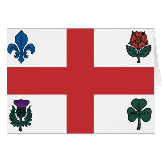 Montreal flag greeting card