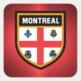 Montreal Flag Square Sticker
