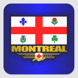 Montreal Flag Square Sticker