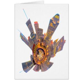 montreal mini planet greeting card