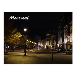 Montréal par nuit cartes postales