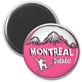 Montreal Quebec Canada pink snowboarder magnet