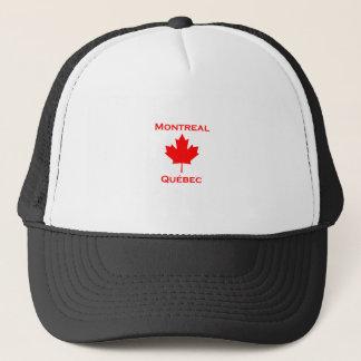 Montreal Quebec Maple Leaf Trucker Hat