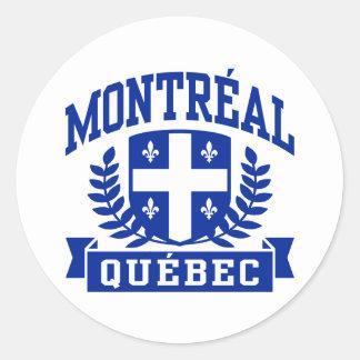 Montreal Quebec Round Sticker