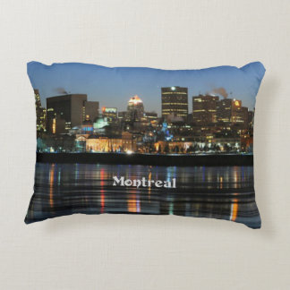 Montreal Skyline Accent Pillow