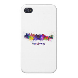 Montreal skyline in watercolor iPhone 4/4S case