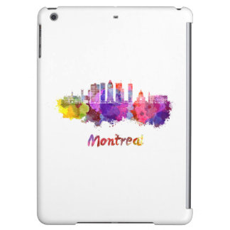 Montreal V2 skyline in watercolor splatters Case For iPad Air