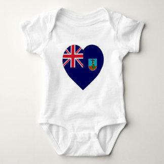 Montserrat Flag Heart Baby Bodysuit