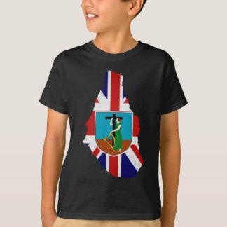 Montserrat flag map T-Shirt