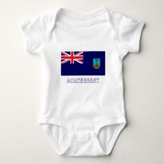 Montserrat Flag with Name Baby Bodysuit